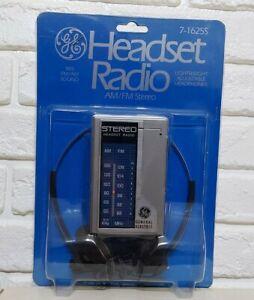 GE Headset Radio AM/FM Stereo w/ Headphones7-1625S Packaging original