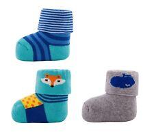 byGraziela New Born 3 Paar Socken Socks 70er Kult Äpfel FUCHS Blau Gr. 0-4 m NeU