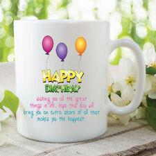 Happy Birthday Mug Friend Gift Birthday Present For Friends Cup 11oz WSDMUG217
