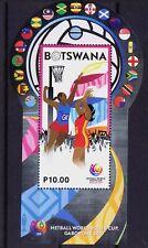Botswana 2017 MNH Odd Unusual Shape MS, Netball, Sports - A10