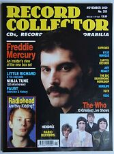 Record Collector 11/00 Freddie Mercury Radiohead Who