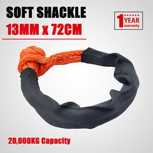 Soft Shackle 13mm 72cm Recovery Gear Dyneema Winch Rope 20T(20,000kg) Heavy Duty