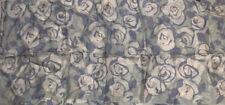 ZAZOU SHEER SCARF FLORAL FLOWER PATTERN GREEN RAYON 13 X 58