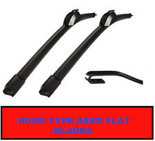 Ford fiesta MK5 2002-2008 Aero Flat Wiper Blades 22-16 para U Gancho Wper Arms