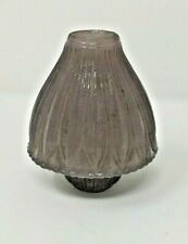 Antique Purple Frosted Glass Chimney /Globe for small oil lamp