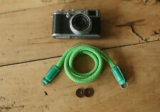 COOL Grass green Climbing rope 10mm  handmade Camera neck strap