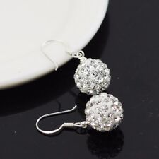 925 Sterling Silver Shamballa Earring - USA Seller