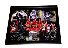 WWE WOMENS REVOLUTION SIGNED BY 9 LIMITED EDITION PLAQUE 9 OF 9 COA FROM WWE