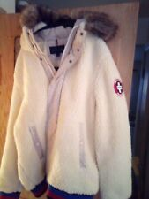 Tommy Hilfiger Mens  LARGE Hooded Fleece Jacket with...