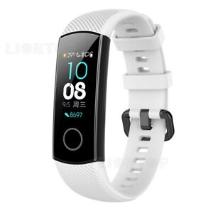 For Huawei Honor Band 5 4 Milanese Stainless Steel Leather Silicone Wrist Strap