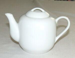 Dansk White Teapot International Designs Jack Lenor Larsen 6 inches 1.5 cups