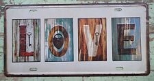 LOVE Decorative Car Plate Tin Signs pub Bar home Wall Poster