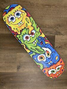 RARE Santa Cruz SpongeBob Melt Everslick 8.5 skateboard deck