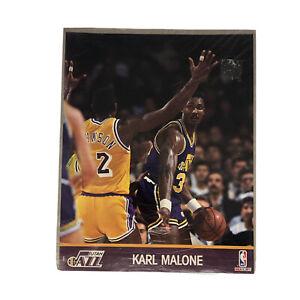 Karl Malone Utah Jazz NBA 1990 NBA Hoops UNOPENED Action Photo