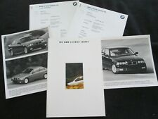 1994 BMW 3 Series Coupe Brochure & Press Info Set E36 318is 325is Sales Catalog