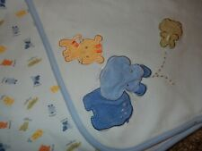Vintage Carter'S Tiger Hippo Frog Jersey Knit Receiving Crib baby Blanket Lovey