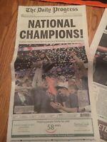 2019 Virginia National Champions The Daily Progress Newspaper