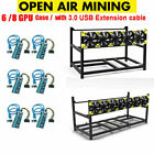 Veddha 6 / 8 GPU Open Air Mining Frame Stackable Rig Case ETH Adapter Cable LOT