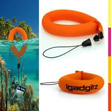 1 Neon Orange Floating Foam Strap for Waterproof Camera Go Pro Marine Binoculars