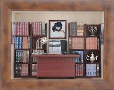 3D MINIATURE TORAH JUDAICA Jewish Rabbi's room WOODEN HAND MADE SIGNED GIFT BOX