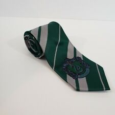 Harry Potter Slytherin Mens Neck Tie Green Striped COS Play