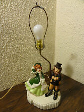 VTG Atlantic Mold Christmas Noel Caroler Boy Girl Man Woman Singing Lamp Tree