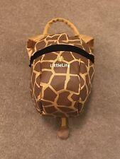 Genuine Littlelife cute Giraffe Toddler Backpack bag with rein 1-3 years