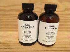 New Sealed Authen TWO Bottles Coach Leather Cleaner 4oz./Moisturizer 4oz. each