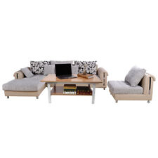 Modern Rectangle Coffee Table Wood Living Room Home Furniture 39