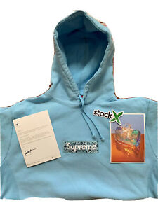 Supreme Bandana Box Logo Hooded Size L Blue Hoodie