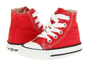 Toddler Converse Chuck Taylor All Star Hi Top 7J232 Red 100% Athletic Brand New