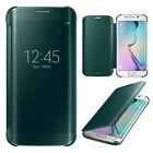 NUEVO Espejo Vista Inteligente Transparente Funda libro para Samsung Galaxy Note
