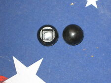 Round Black Plastic Push on Pipe Fence End Caps Fits over .50 od Square Tube