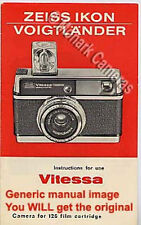 Zeiss Ikon Voigtlander Vitessa 126S Electronic Camera Instruction Leaflet Manual