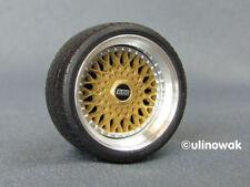 """99069-15 llantas de aluminio 1:18 BBS RS Design 15"""" 11,5 PSF incl. logo"""