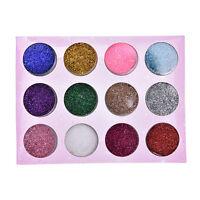 45 Colours Glitter Dust Powder Pots Set Nail Art Tips Decoration/Crafts/DIY BHL