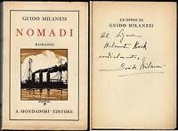 Nomadi - Guido Milanesi / Dedica e autografo dell'Autore, copertina del Cisari