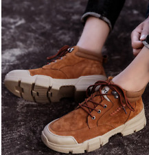 Mens Outdoor Hiking Desert Non-slip Retro High Top Ankle Tooling Boots Shoes 10
