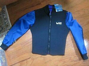 NRS Run Off Paddle Jacket ~Black/Blue/Neoprene zip up w/nylon long sleeves~Small