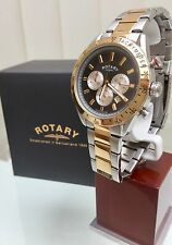 Rotary Men's Two-Tone Gold plated Watch Chronograph Watch RRP£180 Boxed