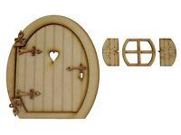 Opening Fairy Door Large 8 inch Wooden Fairy Door Fairy Window Fairy Accessories