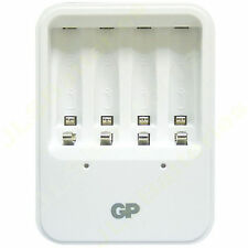 GP Compact charger AA or AAA NiMh rechargeable batteries LED indicator UK PLUG