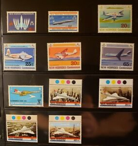 New Hebrides Condominium Aircraft & Aviation Stamps Lot of 15 - MNH - See List