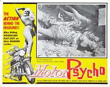 "Russ Meyer Motor Psycho  Movie Poster Replica 11x14"" Photo Print"