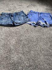 Girls Denim Shorts - X2 - Lipsy & Next - Good Condition
