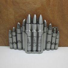 Mens Removable Bullets Pattern Belt Buckle With Refillable Lighter Zinc Alloy
