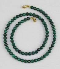 5mm Malachite Necklace Green Necklace 5mm Round Beads Malakite VARIOUS LENGTHS