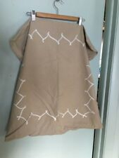 Simply Vera~Vera Wang Euro pillow sham tan/beige with white cording