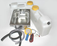 12V WOW Miniküche Verkaufsstand Bausatz Spüle 325x265x150mm Barwig Grau  Smev