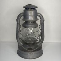 "Antique 1930s Dietz No. 2 D-Lite Kerosene Lantern - 13.75"" tall - New York USA"